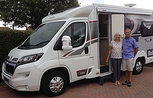 Mike O'Connor with his Elddis Envy 135